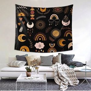 Boho Aesthetic Wall Hanging Tapestry Bohemian